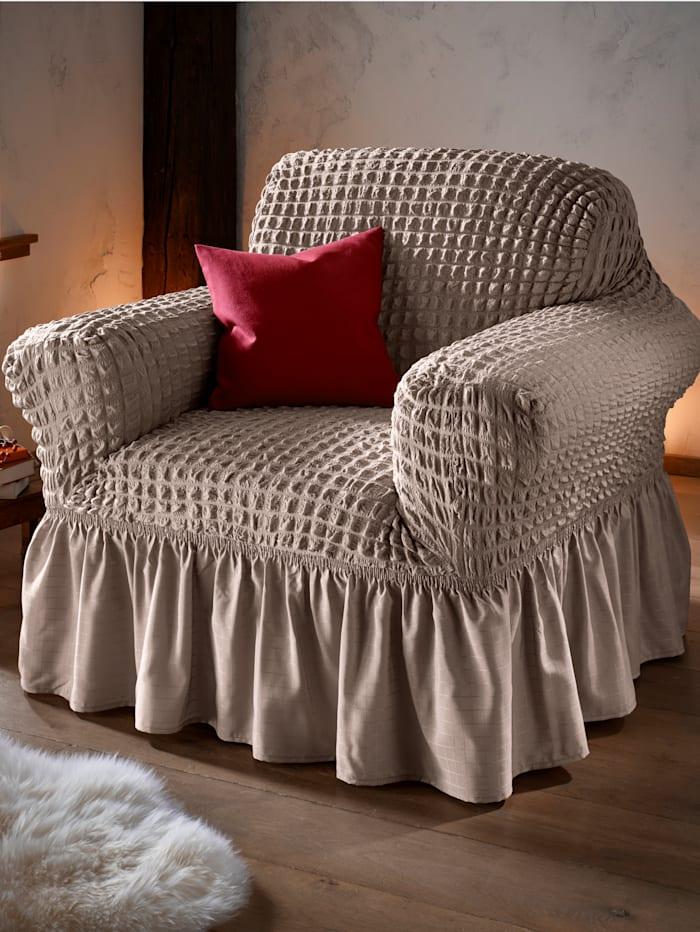 Webschatz Elastisk möbelöverdragsserie, brun