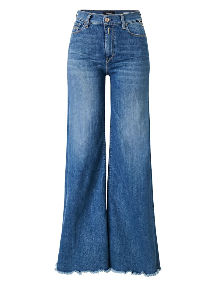 REPLAY Jeans mit Schlag, Blau