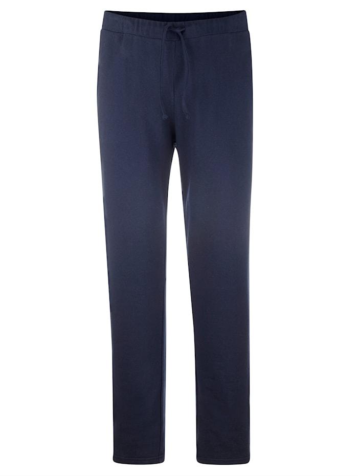 Men Plus Jogginghose mit kontrastfarbenem Einsatz, Marineblau/Oliv
