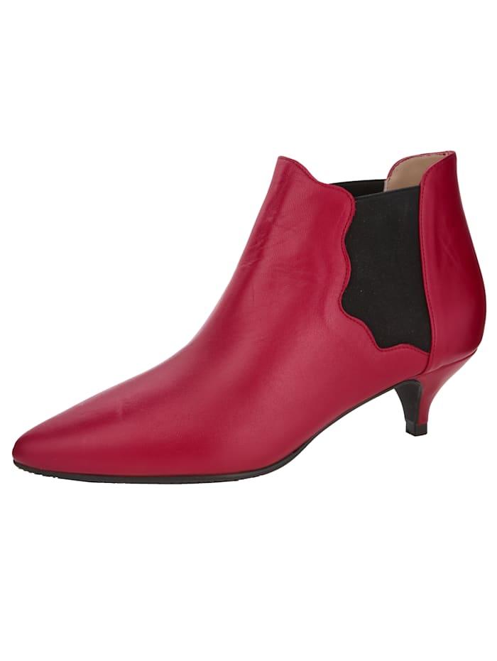 Gennia Low boots de style Chelsea, Rouge/Noir