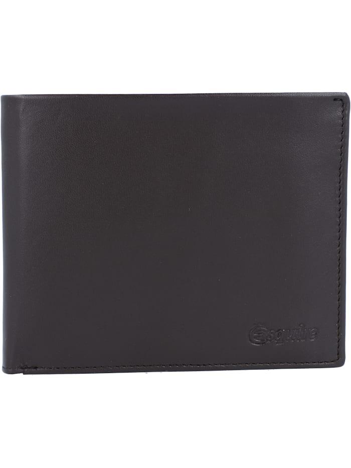 Esquire New Silk Geldbörse Leder 12 cm, braun
