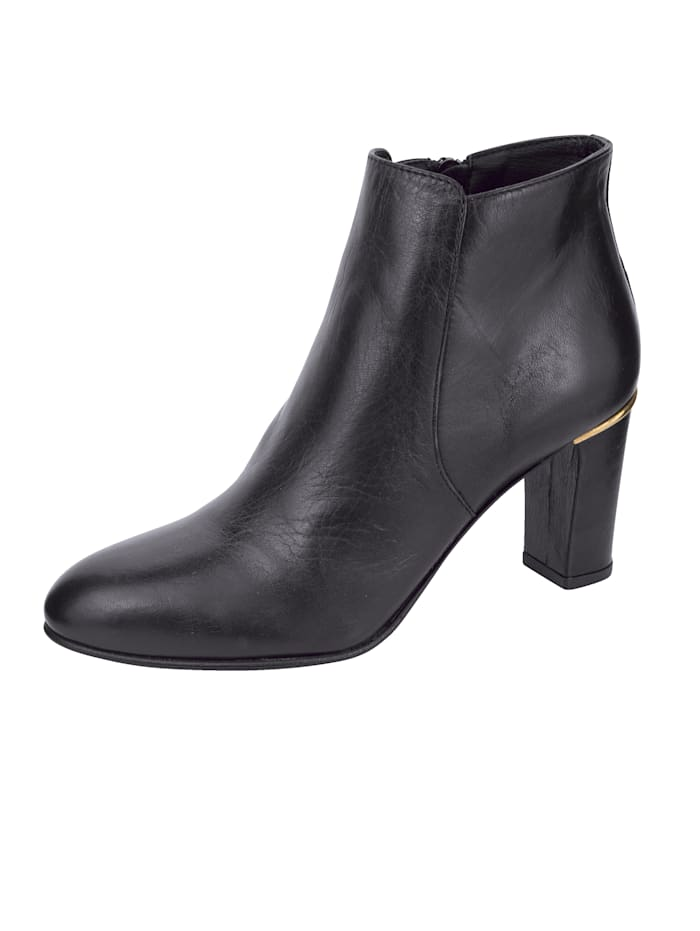 Studio W Ankle boots with gold-tone detail, Black