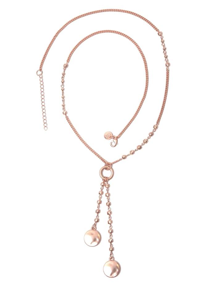 Collezione Alessandro Lange Kette Eve mit gehämmerten Metallteilen, rosegold