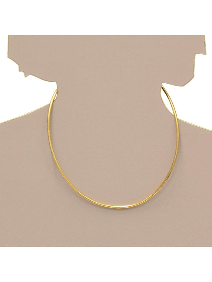 Halsreif - Omega 3,0 mm - Silber 925/000, vergoldet - ,