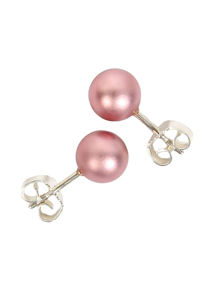 DeMarie Ohrstecker Metall 0,8cm Matt/Glanz, rosa