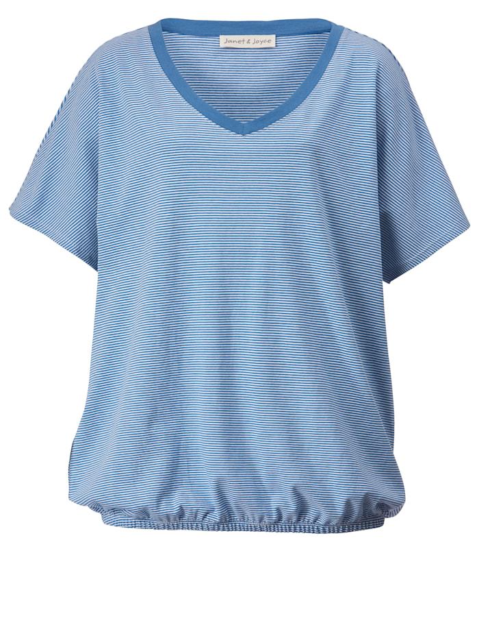 Shirt mit Gummizug am Saum
