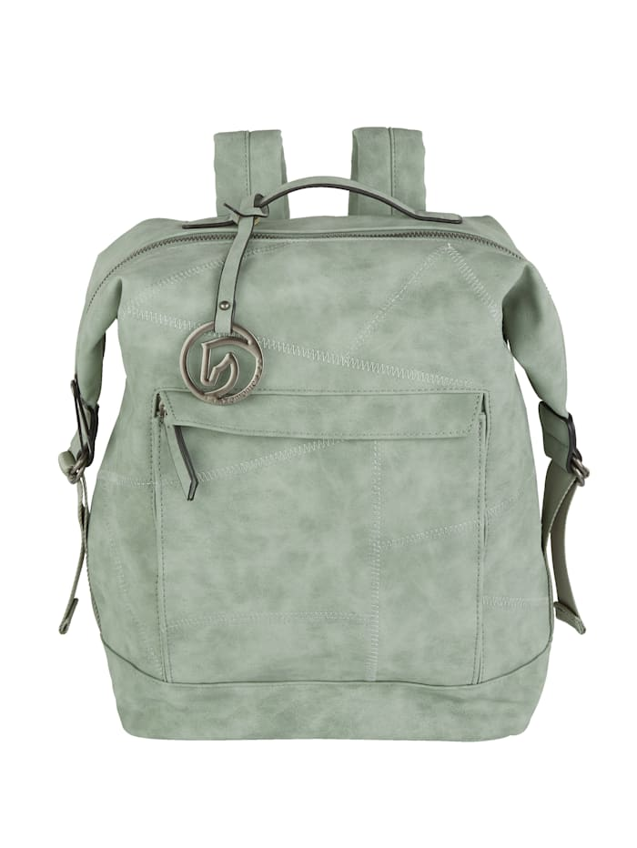 Remonte Backpack in a distressed finish, Mint