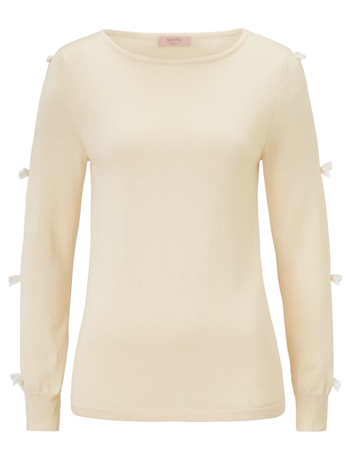 SIENNA Strickpullover, Off-white