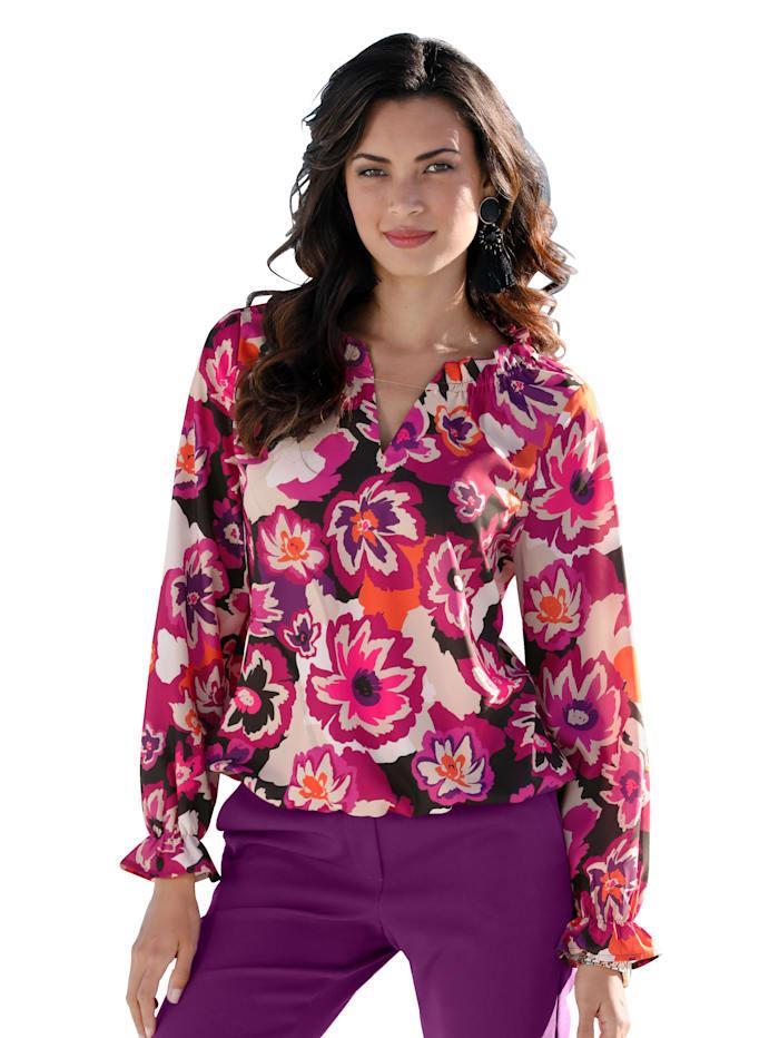 AMY VERMONT Bluse mit floralem Druck, Multicolor