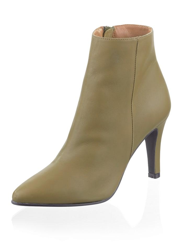 Alba Moda Bottines de style sobre, Vert foncé