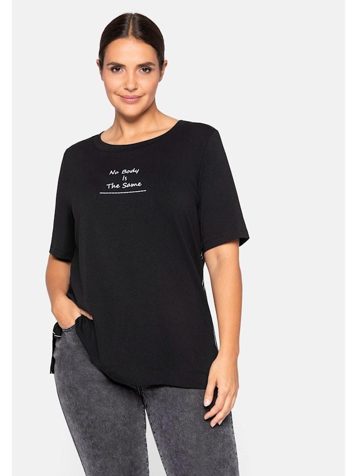 Sheego Sheego T-Shirt mit Statement, schwarz