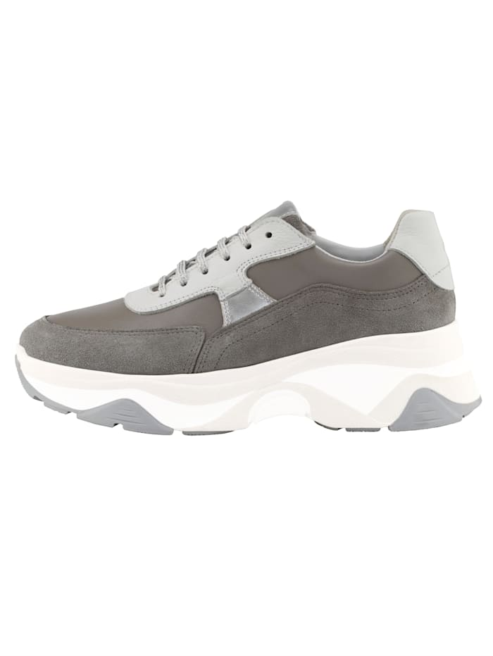 Plateausneaker in tollem Leder-Mix