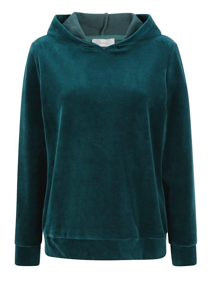 MONA Sweatshirt in Nicki-Qualität, Petrol