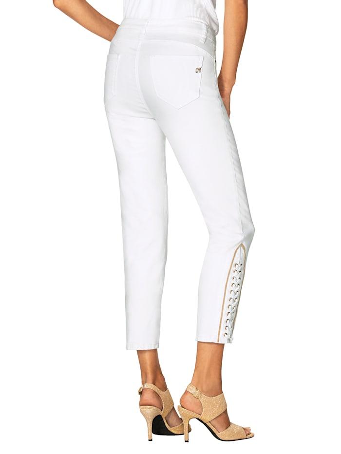 7/8-jeans met siervetersluiting