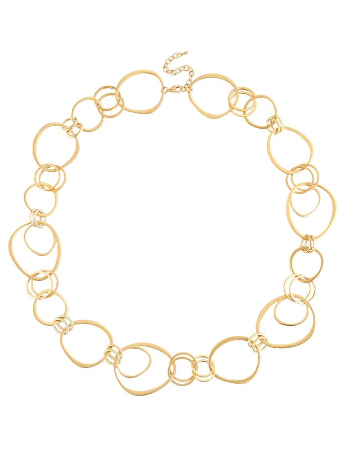 KLiNGEL Halskette mit Elementen, Gelbgoldfarben