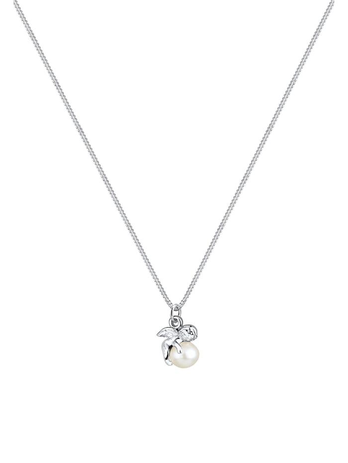 Halskette Engel Süßwasserzuchtperle 925 Sterling Silber
