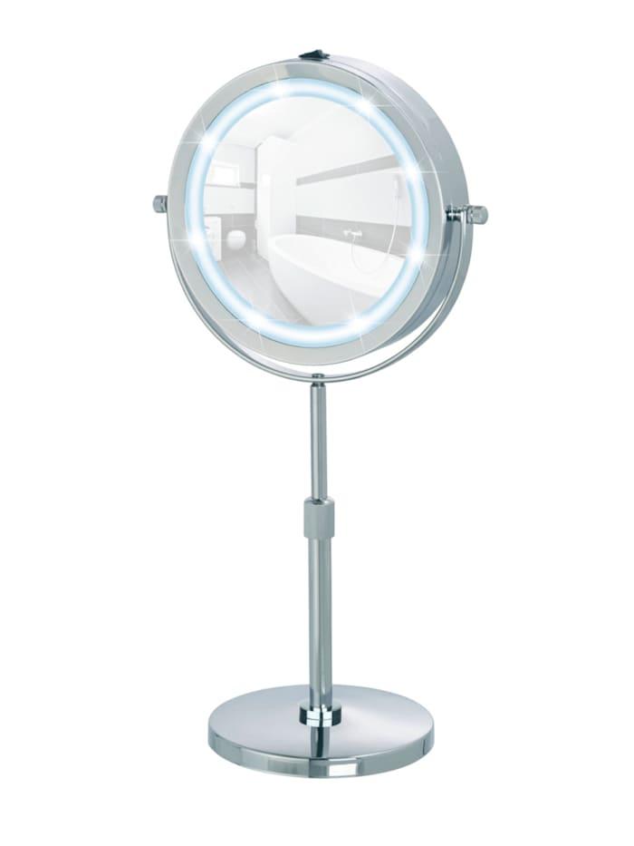 LED Kosmetikspiegel Lumi, Standspiegel, 5-fach Vergrößerung