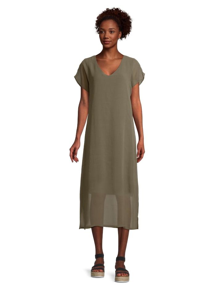 Cartoon Casual-Kleid kurzarm, Khaki