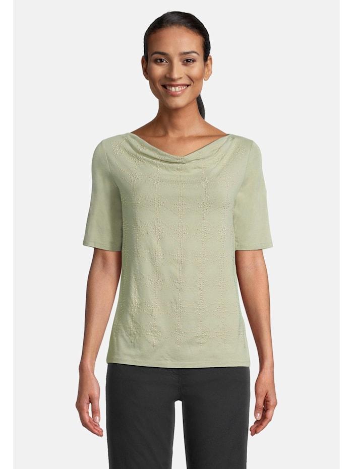 Betty Barclay Basic Shirt mit Wasserfallausschnitt, Grün