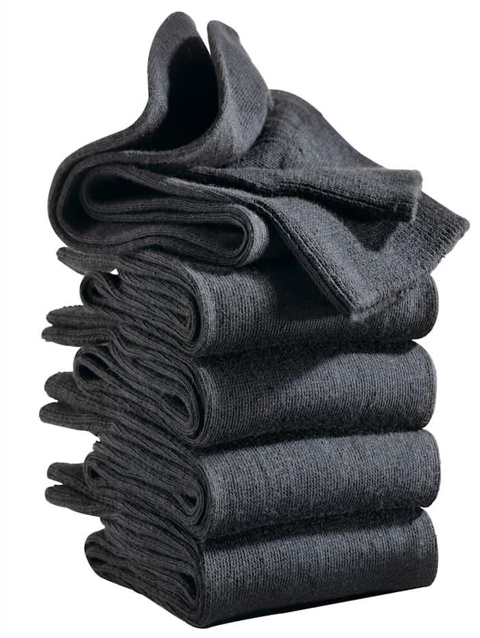 BABISTA Pánské ponožky v pohodlné bavlněné kvalitě, Černá