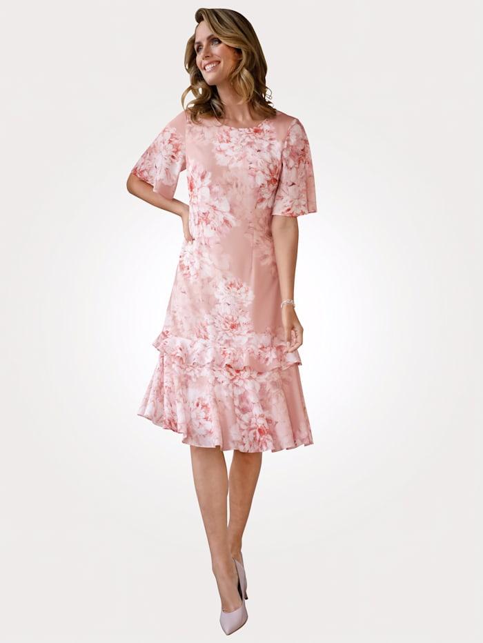 MONA Kleid in floralem Muster, Rosé
