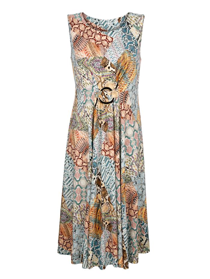 Jerseykleid in farbenfrohem Patchdessin
