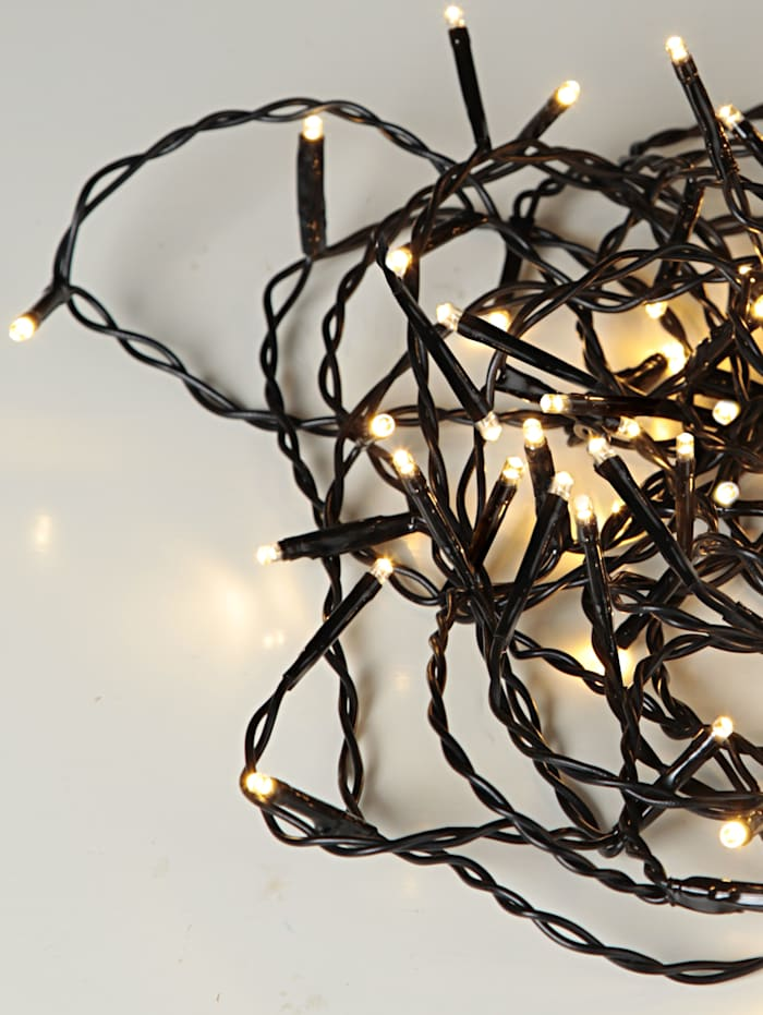 Star Trading LED-ljusslinga, varmvit, svart