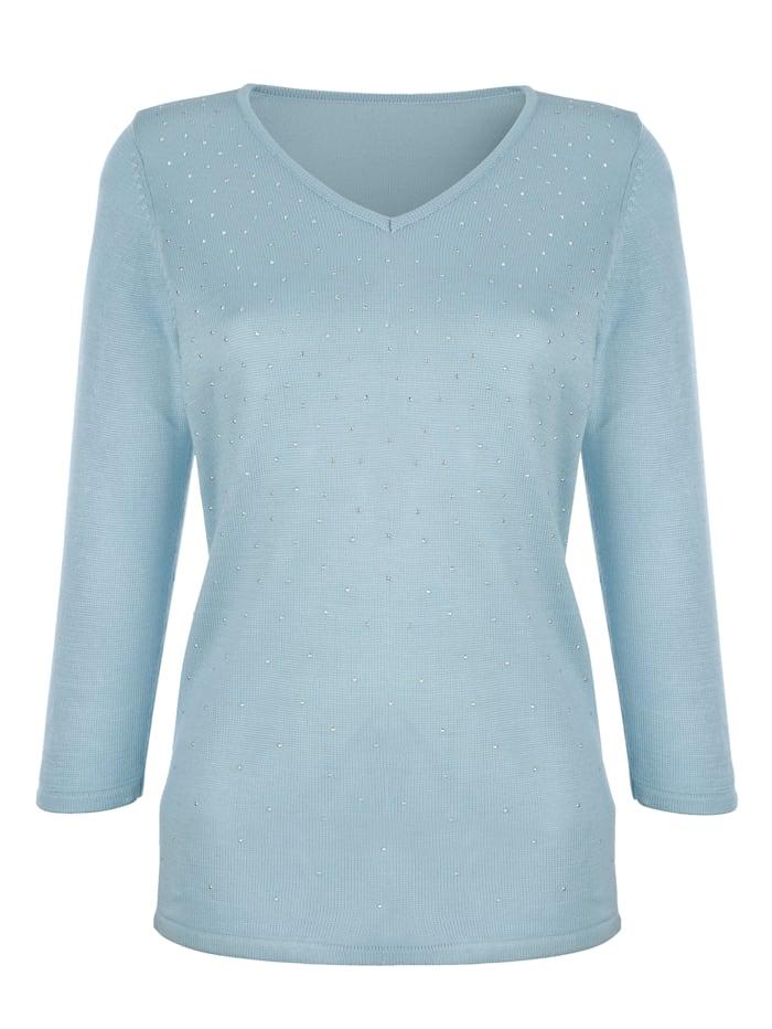 Pullover mit Steinchen im Verlauf