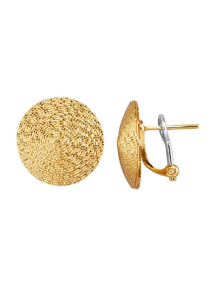 Diemer Gold Ohrstecker mit Gelbgold 585, Gelbgoldfarben