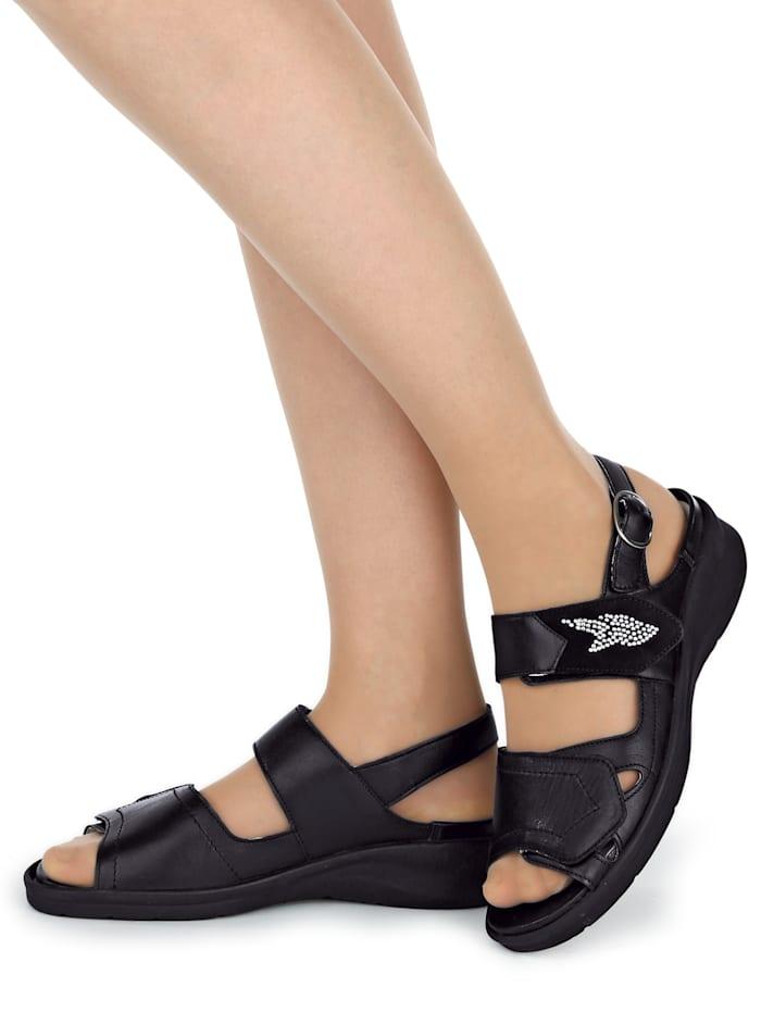 Sandaal met aantrekkelijke siersteentjes