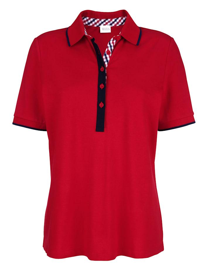 Poloshirt mit aufwendigen Details