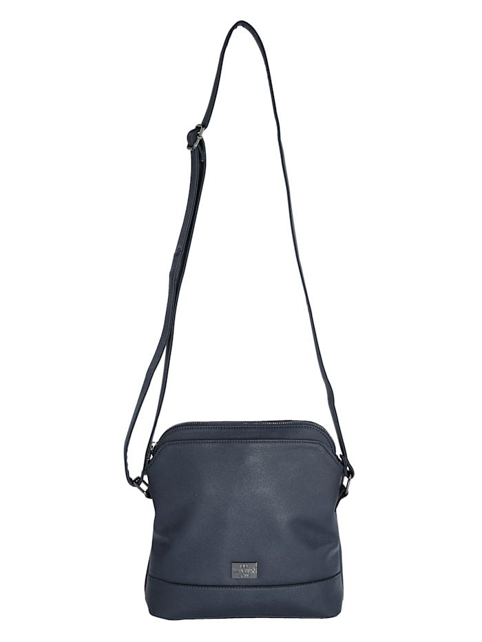 BERNARDO BOSSI Umhängetasche aus hochwertigem Softmaterial, Marineblau