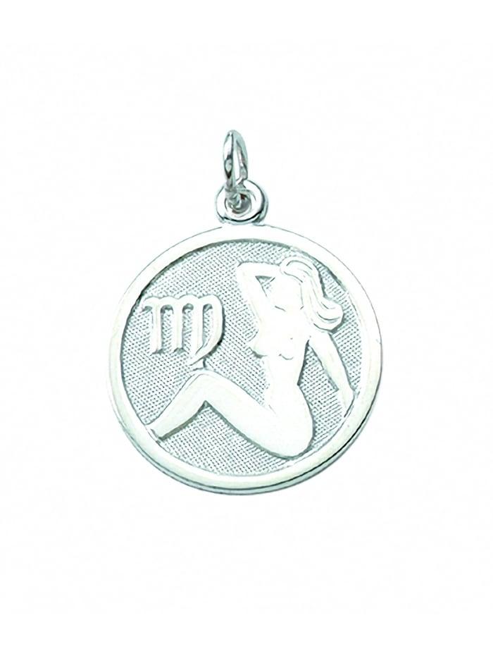 1001 Diamonds Damen & Herren Silberschmuck 925 Silber Sternzeichen Anhänger Jungfrau Ø 15,7 mm, silber