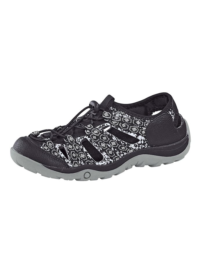 Priority Slipper in Trekking-Optik, Schwarz