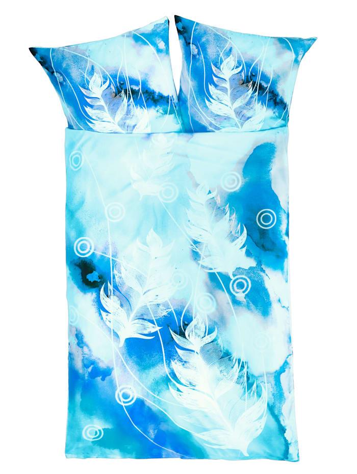 Casamaxx 4 teilige Bettwäsche, Blau