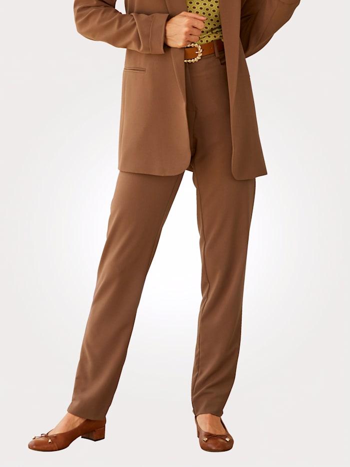 MONA Hose mit schmalem Bein, Cognac