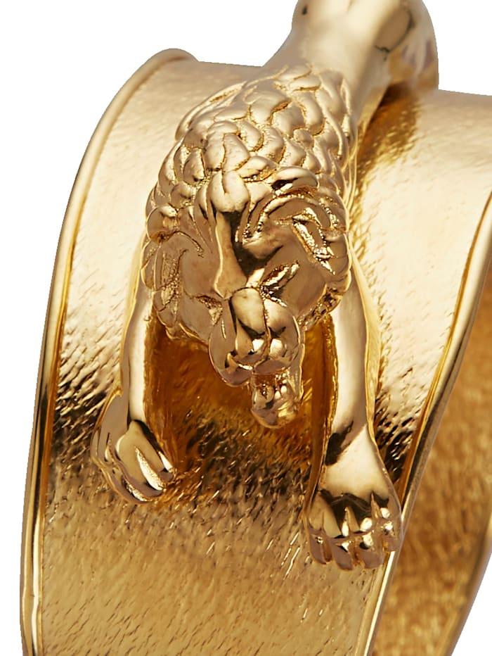 Diemer Silber Löwen-Armspange, Gelbgoldfarben