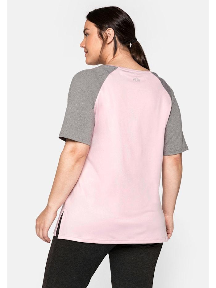 Sheego Funktionsshirt mit kontrastfarbenen Raglanärmeln