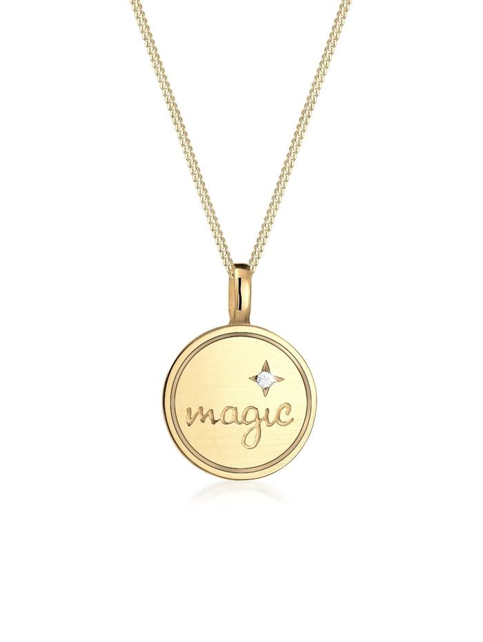 Elli Halskette Astro Magic Stern Kristalle 925 Silber, Gold