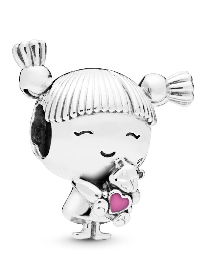 Pandora Charm -Mädchen mit Zöpfen- 798016EN160, Silberfarben