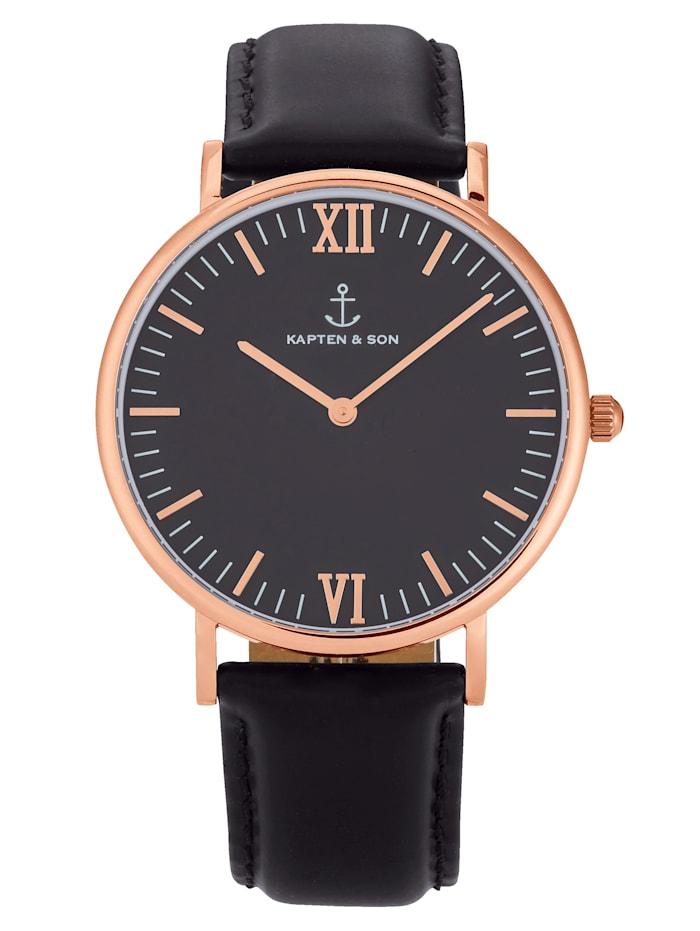 KAPTEN & SON Armbanduhr, Schwarz