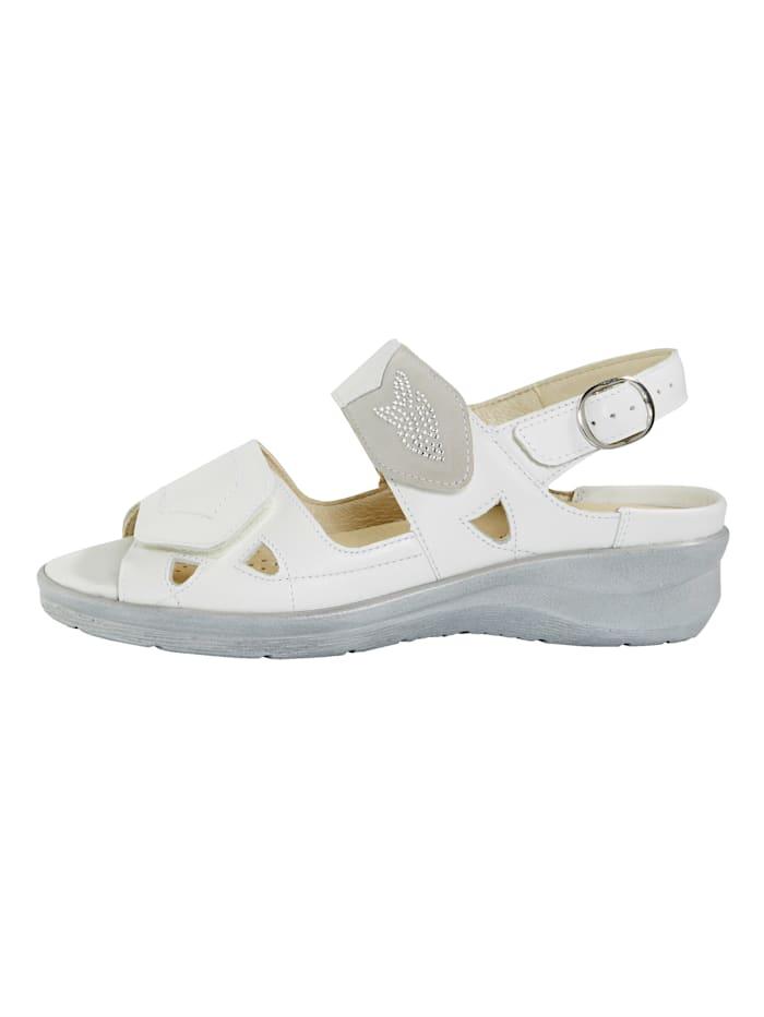 Sandále s atraktívnymi ozdobnými kamienkami