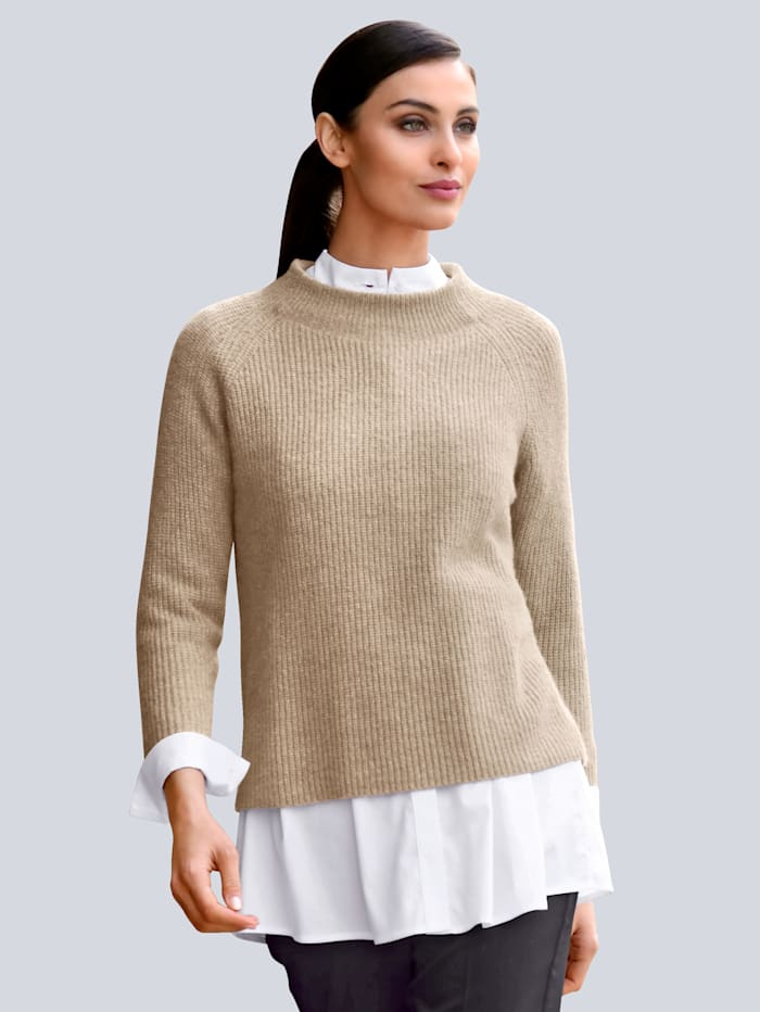 Alba Moda Pullover in leichter Strickart, Orange