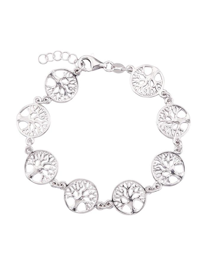 Armband med livets träd i silver 925, Silverfärgad