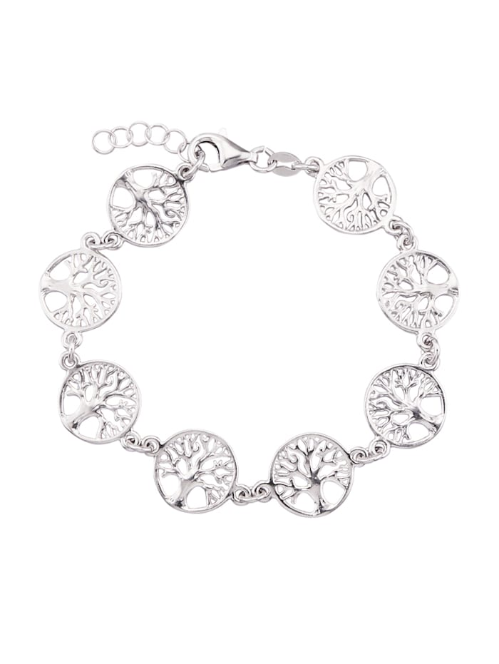 Lebensbaum-Armband in Silber 925, Silberfarben