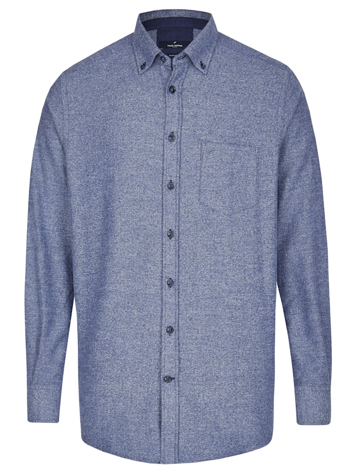 Daniel Hechter Flanell-Hemd in extraweicher Qualität, steel blue