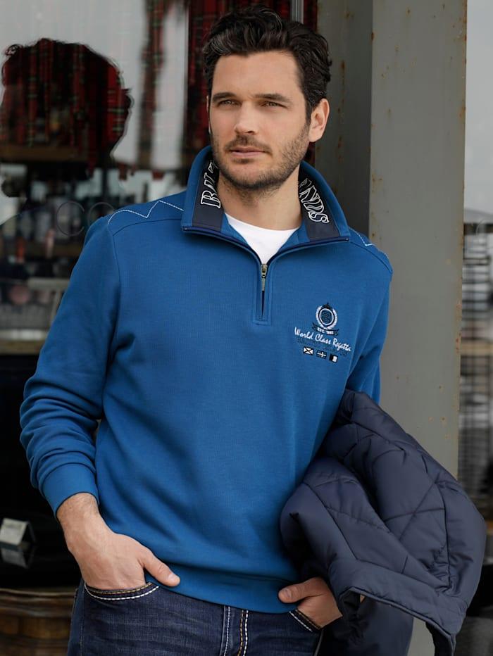 BABISTA Sweatshirt met luxueuze details, Royal blue