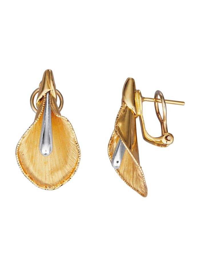 Diemer Gold Calla-Ohrringe in Gelbgold 585, Gelbgoldfarben