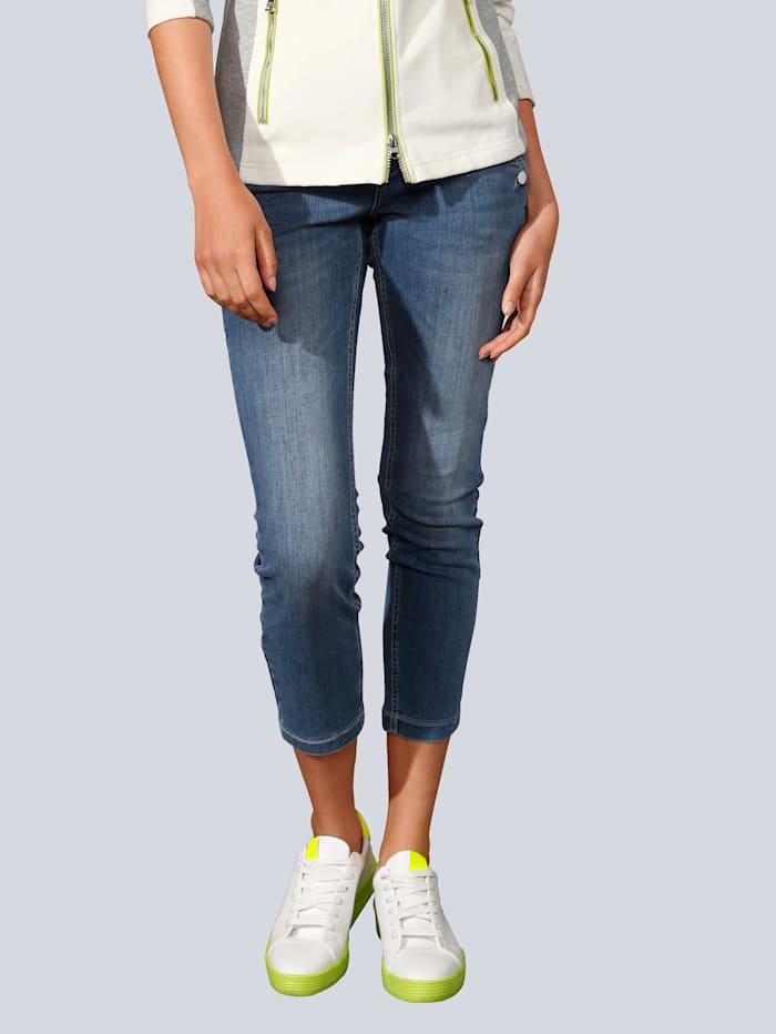 MAC Jeans mit großen Knöpfen, Blau