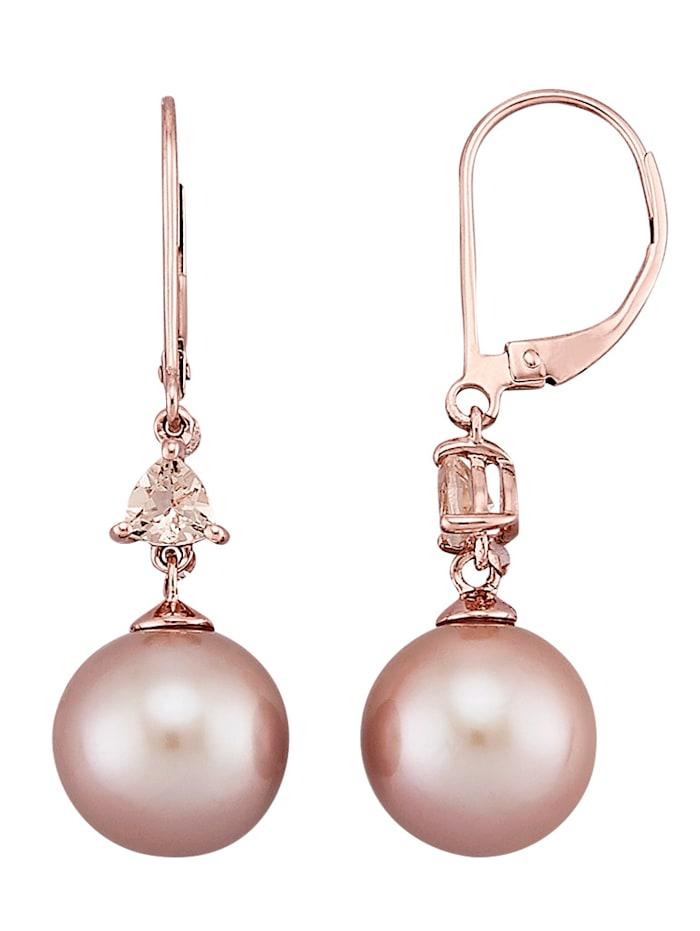 Diemer Perle Oorbellen met roze cultivé zoetwaterparels, Roze